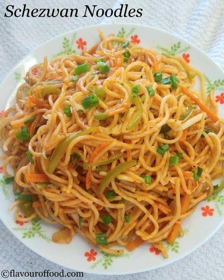 Schezwan Noodles Recipe   Veg Schezwan Noodles   How to make Schezwan Noodles